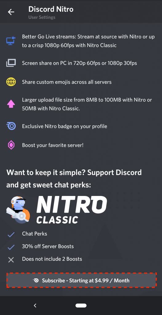 Discord Nitro Google Play